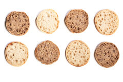 Mix of Italian style bread rolls, wholemeal and regular Royalty Free Stock Photo