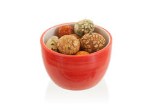 Mix of Japanese nuts. In a small cup Stock Photos