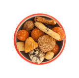 Mix of Japanese nuts. In a small cup Royalty Free Stock Photo