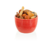 Mix of Japanese nuts. In a small cup Stock Image
