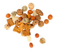 Mix of Japanese nuts. On a white background Stock Images