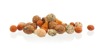 Mix of Japanese nuts. On a white background Stock Photography