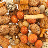 Mix of japanese rice nuts. For background use Royalty Free Stock Photo