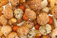 Mix of japanese rice nuts. For background use Royalty Free Stock Photos