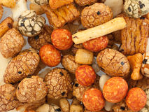 Mix of japanese rice nuts. For background use Stock Photo