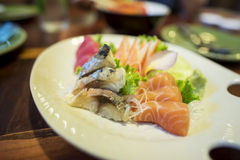 Mix japanese sashimi small set Stock Images