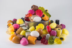 Mix jelly fruits Royalty Free Stock Images
