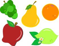 Mix of Juicy Fruits Royalty Free Stock Images