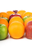 Mix of juicy fruits in nice compositions stock photo