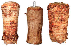 Mix of kebab. And donner isolated on a white background Royalty Free Stock Photos