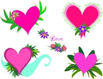 Mix of Love Hearts Stock Images