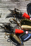 Mix lures spinners Royalty Free Stock Photo