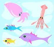 Mix of Marine Life Stock Photo