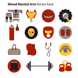 Mix Martial Arts Icons Set. Royalty Free Stock Image