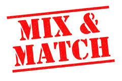 MIX AND MATCH Rubber Stamp Royalty Free Stock Images