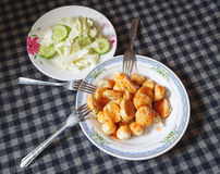 Mix meatball fried Royalty Free Stock Images