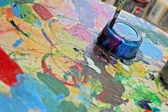 Mix media painting Stock Photography