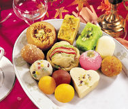 Mix Mithai in Tray Royalty Free Stock Image