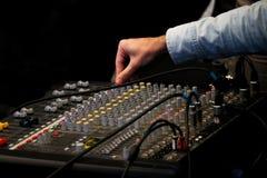Mix mixer and DJ hand royalty free illustration