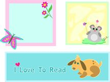 Mix of Mouse, Butterfly, and Dog Frames Stock Photography