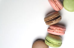 Mix of multicolored French macarons Royalty Free Stock Photography