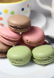 Mix of multicolored French macarons Royalty Free Stock Photos