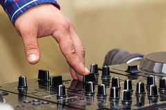 Mix the music Royalty Free Stock Image