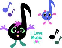 Mix of Music Notes Stock Images