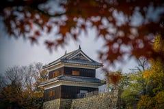 Ueda Castle during autumn stock photo