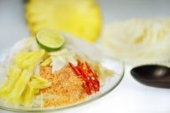 Mix nooodle thai style Stock Photo