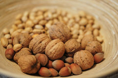 Mix of nuts Stock Image