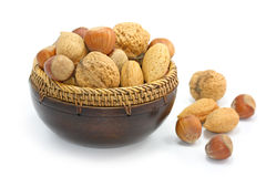 Mix of nuts royalty free stock image