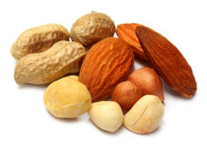 Mix nuts-cashew,almond & peanuts royalty free stock photography