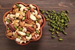 Mix of nuts. Stock Photos