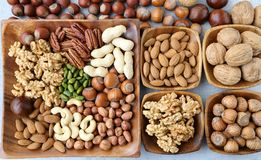 Mix of nuts. Stock Photo