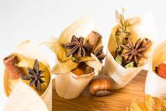 Mix nuts, dry fruits and chocolate Royalty Free Stock Images