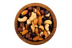 Mix nuts, dry fruits and grapes Royalty Free Stock Photography