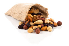 Mix nuts, dry fruits and grapes Stock Photography
