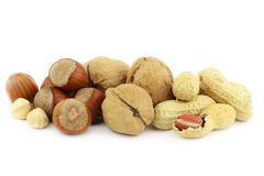 Mix of nuts Royalty Free Stock Photos