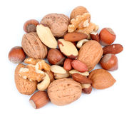 Mix nuts isolated on white background.. Royalty Free Stock Photo