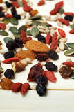 Mix nuts seeds and dry fruits Stock Photo