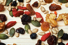 Mix nuts seeds and dry fruits Stock Photography