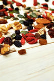 Mix nuts seeds and dry fruits Royalty Free Stock Images