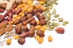 Mix of nuts and seeds for healthy snack Stock Photography