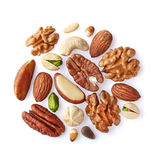 Mix nuts on a white Royalty Free Stock Photos