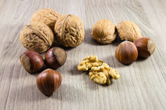 Mix of nuts Stock Photography