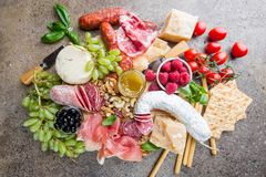 Free Mix Of Different Appetizers Royalty Free Stock Image - 122577276
