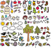 Mix Of Doodle Images. Vol. 1 Royalty Free Stock Images