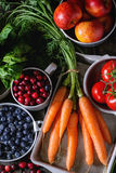 Mix Of Fruits, Vegetables And Berries Stock Image