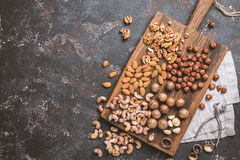 Free Mix Of Nuts. Top View. Royalty Free Stock Images - 88879649